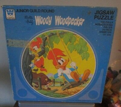 Vintage 1977 Woody Woodpecker 125 piece, Whitman jigsaw puzzle