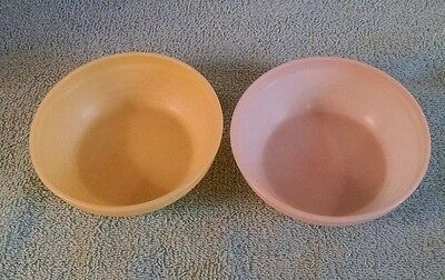Vintage Gerber Baby Food Bowls - 1 pink & 1 yellow