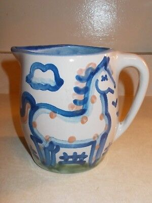 "M.A. Hadley Great Horse Pitcher / Creamer 5"" Excellent Condition!"