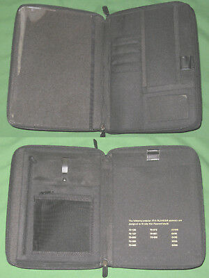 CLASSIC ~ NOTE PAD ~ Black LEATHER Day Runner Planner AAG BINDER Franklin Covey