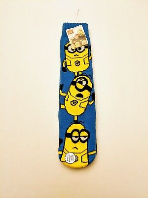 Despicable Me Minions Kids Slipper Socks With Rubber Grippers Shoe Size 7.5 -...