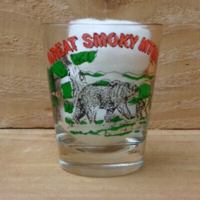 "GREAT SMOKY MOUNTAINS - TENNESSEE - NORTH CAROLINA ""Shot Glass"" orig."