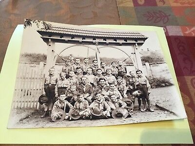 1932 Photograph Of Boy Scout Troop France??? Or Other Country