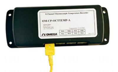 Omega 8 CH Thermocouple Logger With AC Adapter OM-CP-OCTTEMP-A