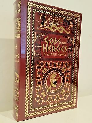 New Sealed Leatherbound* GODS AND HEROES OF ANCIENT GREECE by Gustav Schwab