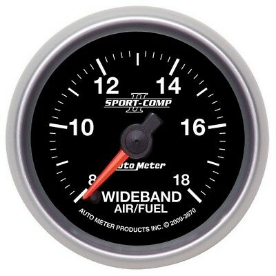 Auto Meter Sport-Comp II 52mm 8:1-18:1 AFR Wideband Air/Fuel Ratio Analog Gauge