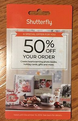 Shutterfly Coupon 50% Off Your Order Exp. 12-15 Immediate Delivery