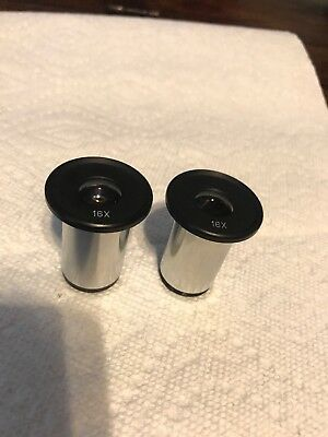 Pair Of 16X Microscope Eyepieces 23mm Mount