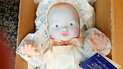 """21"""" Prince William Baby Doll In Christening Gown By EG Goldberger 1984 free ship"""