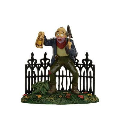 Dept 56 SCARY GRAVEDIGGER #4056708 NRFB Halloween Snow Village cemetery shed *