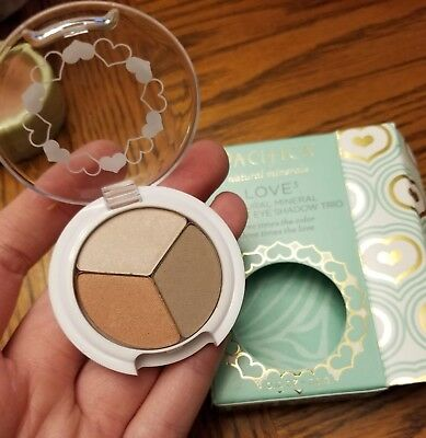 Pacifica LOVE 3 Natural Mineral Coconut Eye Shadow Trio Palette Ethereal Lovely