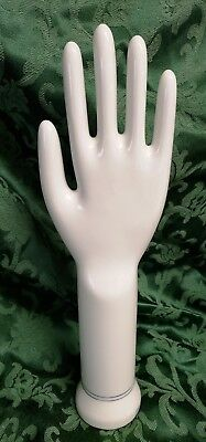 Vintage Hand Glove Mold General Porcelain Ambidextrous MRI Jewelry Display