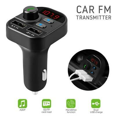 Hands-free Bluetooth Car Kit FM Transmitter TF MP3 Player USB Charger LCD Screen