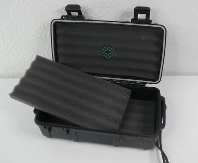 Herf A Dor 10 Cigar Caddy Hard Box Humidor Waterproof Travel Case Humi Care BLK