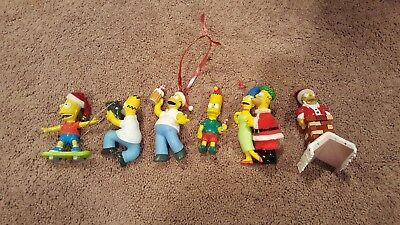 Lot Of 6 The Simpsons Christmas Ornaments