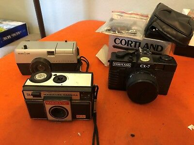 Lot of 3 VTG Cameras. Untested-AS IS.  Magimatic X50, Cortland CX-7, Sears 126