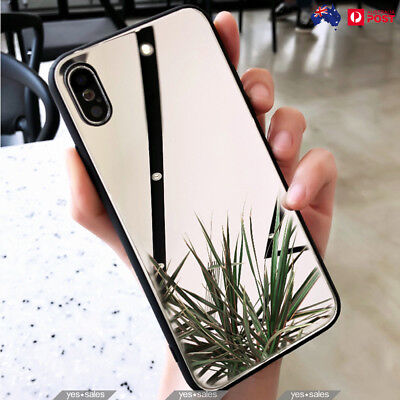 Luxury Soft TPU Bumper Mirror Back Case Ultra Slim Cover For iPhone XS MAX XR