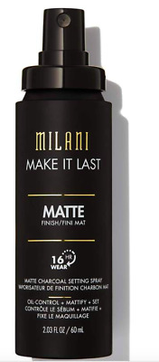 New! Milani Make It Last Matte Charcoal Setting Spray 100% Authentic Sealed Nib