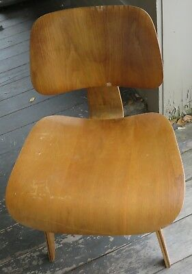 Original Mid Century Modern Eames Era Herman Miller DCW Plywood Chair #3