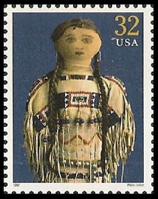VINTAGE Plains Indian 1920's Classic American Doll Commemorative US Stamp MINT!