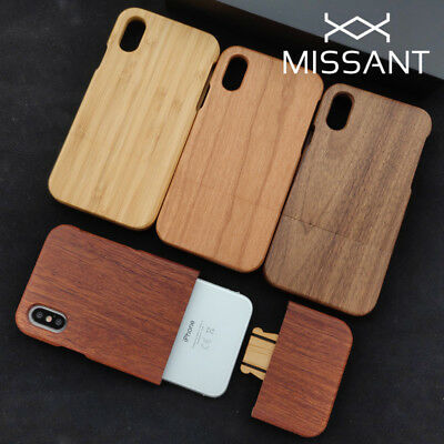 100% Natural Wood Bamboo Walnut Cherry Case For Apple iPhone 5 6 7 8 X XR XS Max