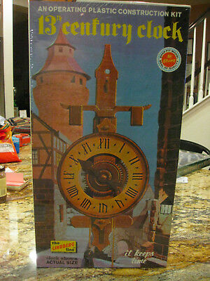Vintage Lindberg 13th Century Clock Model Kit New in Box VERY RARE