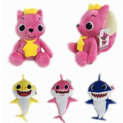 PinkFong Animal Cartoon Stuffed Toy Plush Doll Soft Toys Fox Sharks Baby Toys AU