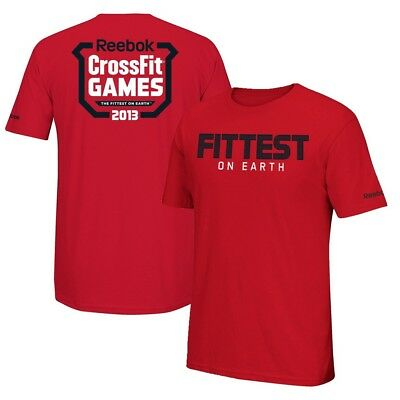 "Reebok Men's  2013 CrossFit Games ""Fittest On Earth"" Red T-Shirt"