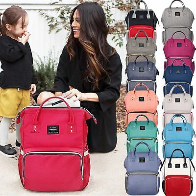2018 Fashion Large Mummy Maternity Nappy Diaper Bag Baby Bag Travel Backpack NEW