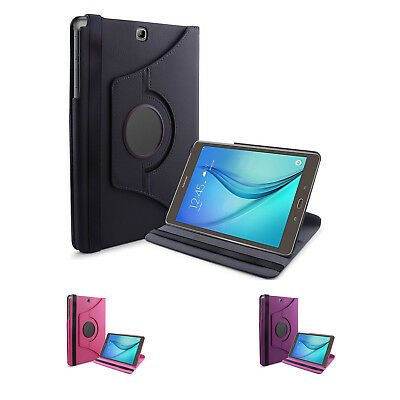 Luxury 360 Rotating Magnetic Smart PU Leather Case Cover For Samsung Galax Q9H6)