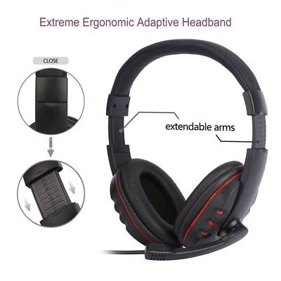 Stereo 3.5mm Wired Gaming Headset Headphone For PS4 Xbox One Nintendo Switch EK