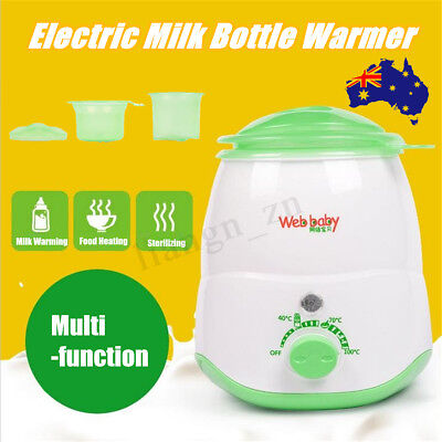 Electric Baby Bottle Milk Warmer Heating Up Food Sterilizing Bottle Feed Heat AU