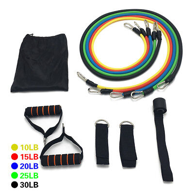 11Pcs/set Fitness Training Exercise Pull Rope Elastic Resistance Bands Cheerful