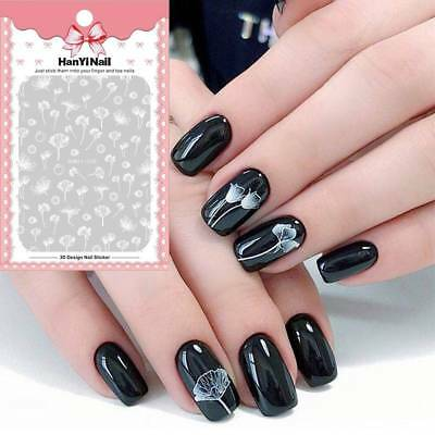 1 Sheet Flower 3D Nail Art Transfer Sticker Nail Accessories for Nail Decoration
