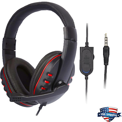 3.5mm Wired Gaming Headset Headphone For PS4 Xbox One Nintendo Switch EK