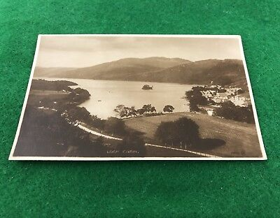 Loch Earn Scotland Un-Posted RP Vintage Postcard