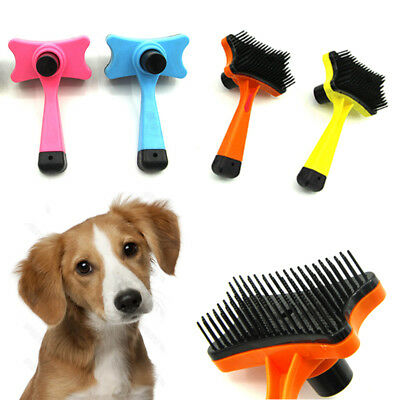 NEW Plastic Comb Hair Brush Shedding Flea For Cat Dog Pets Trimmer Grooming