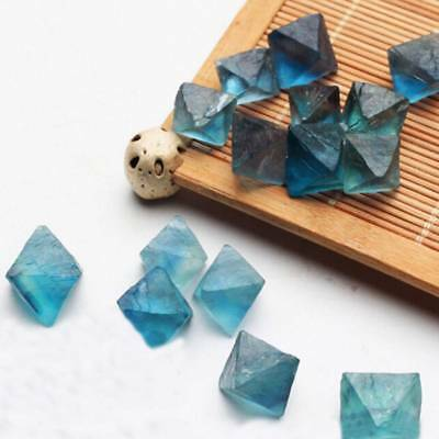 Natural Blue Fluorite Quartz Crystal Tumbled Stone Rock Mineral Specimen