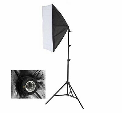 Continuous E27 Lighting 50x70cm Softbox Umbrella  Photo Studio Pro Light Stand