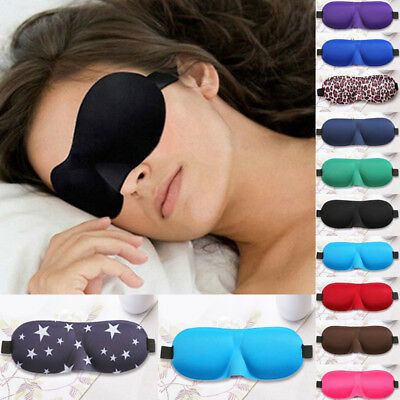 Travel 3D Eye Mask Sleep Soft Pad Shade Cover Rest Relax Sleeping Blindfold *