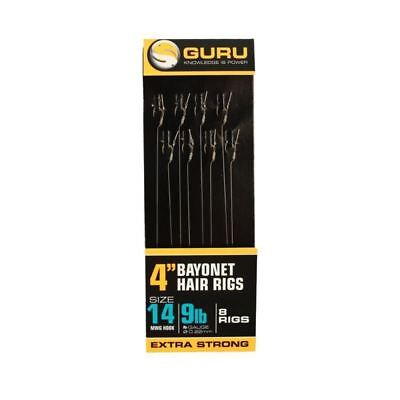 Guru Bayonet Hair Rigs - 4'' - MWG Hook - Full Range Available - Coarse, Match