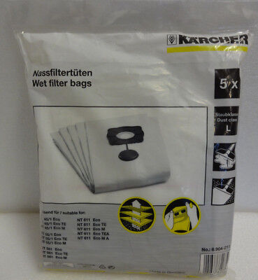 KARCHER 6.904-211.0 Special Wet Filter Bag Pack of 5