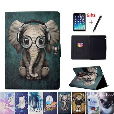 """Animal Silicone PU Leather Stand Cover Case For Huawei MediaPad T3 10 9.6""""Tablet"""