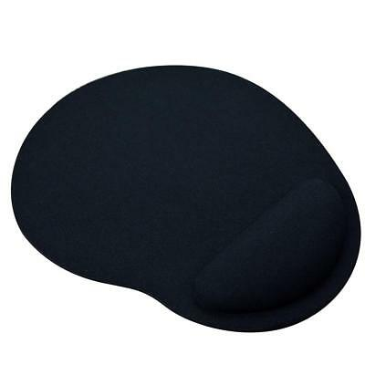 Balck Anti-slip Mouse Mat Pad With Foam Wrist Support Computer Pc And Laptop UK