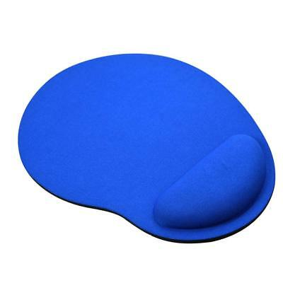 Blue Anti-slip Mouse Mat Pad With Foam Wrist Support Computer PC And Laptop Soft