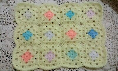 Crochet Blanket Quilt Throw Clothes for Barbie Dolls  or Teddy