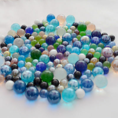 Wholesale Colors Glass Beads Marbles Kid Toy Fish Tank Decor 14mm 16mm 22mm 25mm