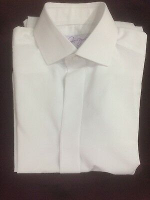 Men's  SLIM FIT white  normal collar shirt wedding ex condition all sizes