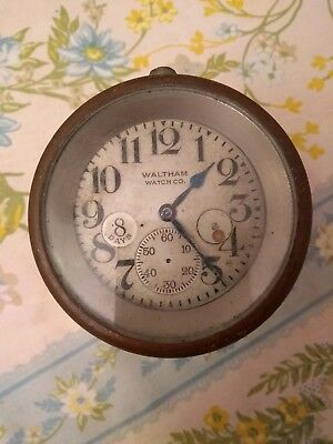 Waltham Watch Co 8 Day Clock Spare Repair NOT WORKING no second hand, Vehicle
