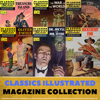 Classics illustrated - 235 Vintage Magazines/Comic Books on DVD - Classic Novels